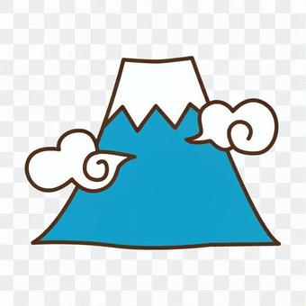 富士山和雲