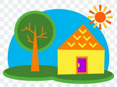 多彩的房子