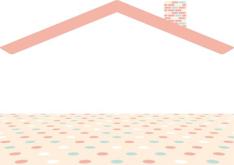 Roof three-dimensional dot floor
