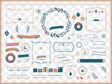 飾り罫 クリスマス フレーム セット