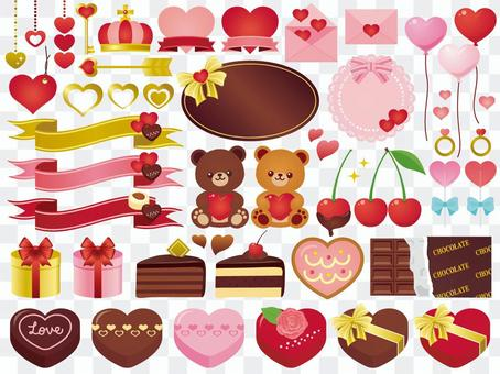 A lot of valentine
