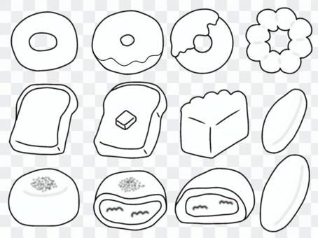 甜甜圈麵包(單色)