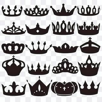 Icon material for the crown worn by the king