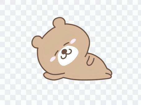 Lying bear