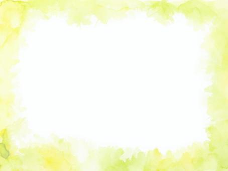 水彩紋理框架3綠色