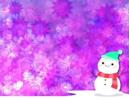 可愛的雪人_廣場背景