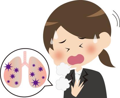 患有肺炎的女人