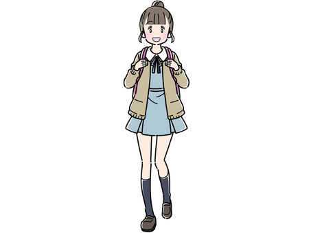 一件製服的女孩