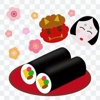 Setsubun Festival rolled sushi