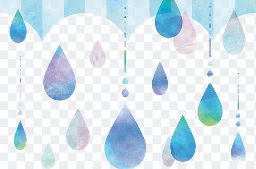 從雨傘落下的雨水水下落框架