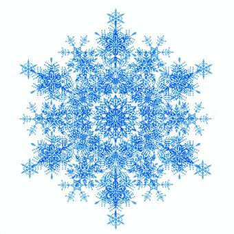 Blue snow flower material 3