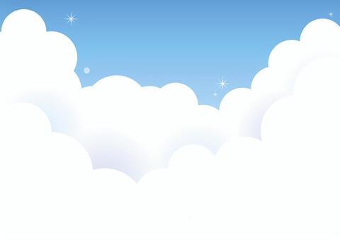 蓬鬆的雲彩和藍天