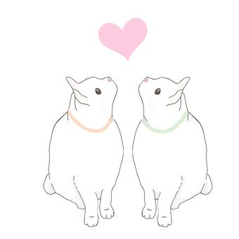 LOVE cat (small heart)