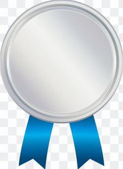 銀色銀徽章密封修補圓架