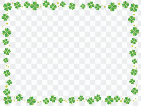 四葉三葉草裝飾框架3
