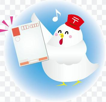 雞圖發送新年的賀卡