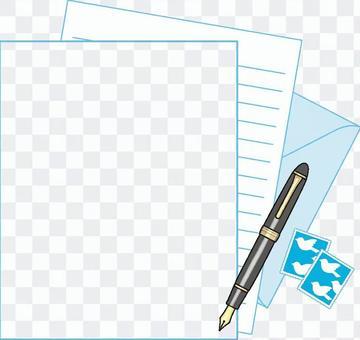 Light blue letter set frame