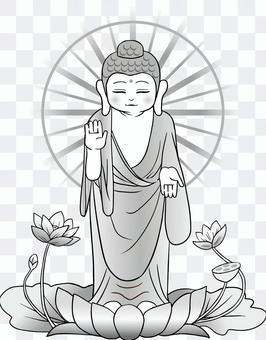 Buddha _ Standing _ monochrome