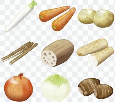 蔬菜集/ 2 /根菜類