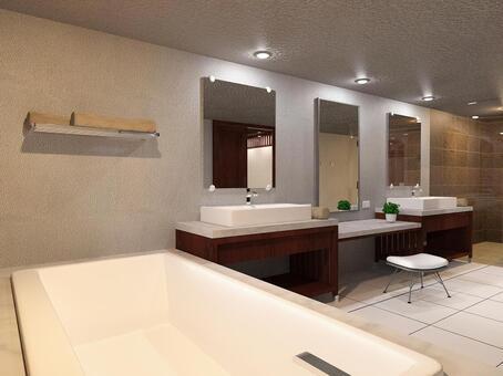 豪华酒店式浴室厕所