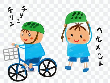 一个自行车男孩