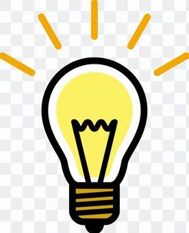 Light bulb _ Line drawing ___ color
