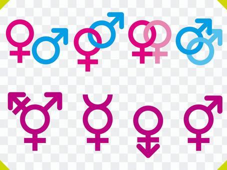 性別性別性別圖標集