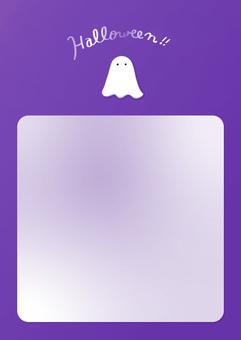 Simple halloween ghost frame