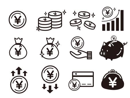 錢圖標集(單色)