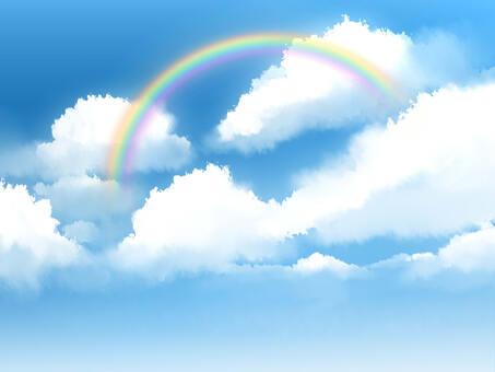 雲彩和彩虹