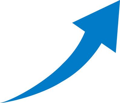 Arrow-Right shoulder up-UP-Up-Curve-Blue