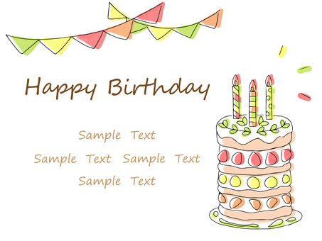 Fruitcake birthday card