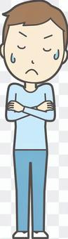 青年藍色長袖-016-全身
