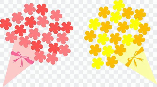 花束(橙與粉紅)