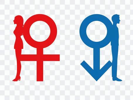 男人和女人的標誌和剪影