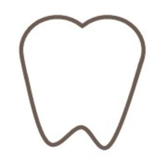 牙齒牙科簡單的白色身體