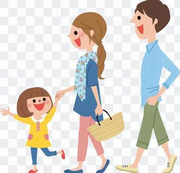 和家人出去玩