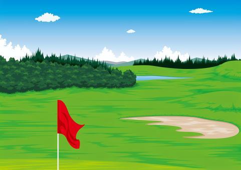 高爾夫球場風光