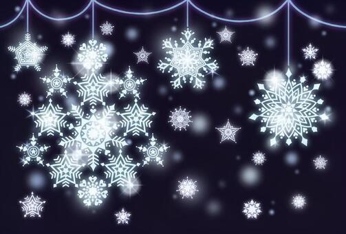 Snow stardust 3 (light blue)