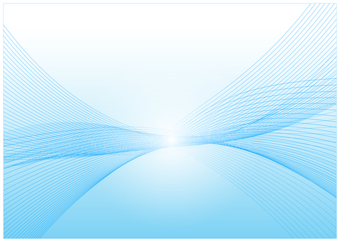 線條藝術淡藍色