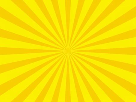 放射線(黄色)
