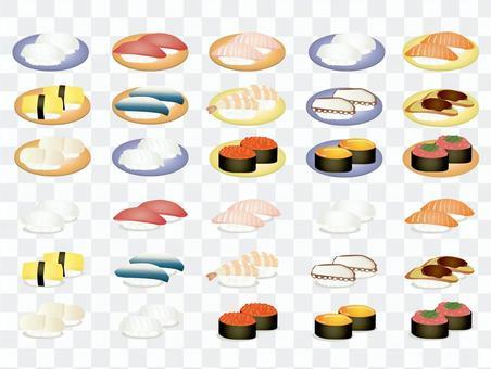 壽司的插圖集