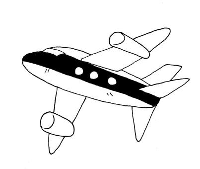 Airplane B & W