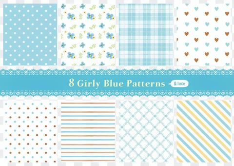 Girly pattern 02_blue