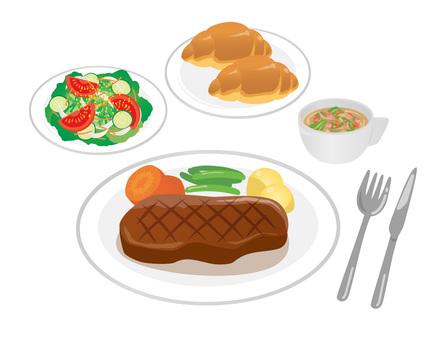 Set_Steak 02 Bread