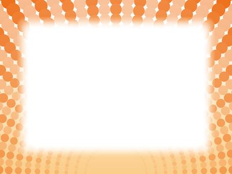 寬框架(11)圓球點橙色