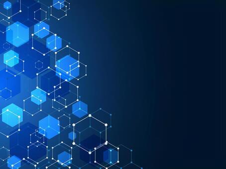 六角形の背景 青