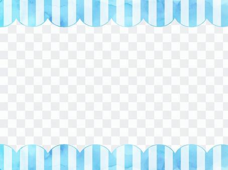 水彩條紋框架2淡藍色