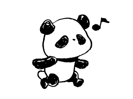 Child panda-runrun