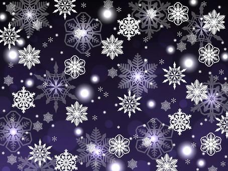 雪もようの背景雪素材